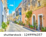 the scenic street with old... | Shutterstock . vector #1249996357
