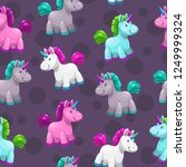 seamless pattern with cute... | Shutterstock .eps vector #1249999324