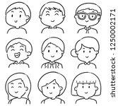 vector set of people | Shutterstock .eps vector #1250002171