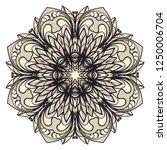ornamental circle pattern. hand ...   Shutterstock .eps vector #1250006704