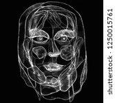 woman portrait in modern... | Shutterstock . vector #1250015761