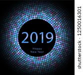 lilac discoball new year 2019... | Shutterstock .eps vector #1250016301