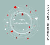 happy valentines day | Shutterstock .eps vector #125001779
