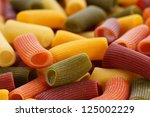 Colored Pasta Closeup