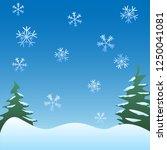 peaceful winter scene... | Shutterstock .eps vector #1250041081
