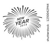 graphic happy new year | Shutterstock .eps vector #1250042944