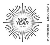 graphic happy new year | Shutterstock .eps vector #1250045341