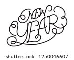 graphic happy new year | Shutterstock .eps vector #1250046607
