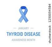 thyroid awareness month concept....   Shutterstock .eps vector #1250054584
