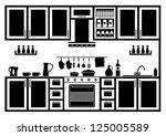 icon of kitchen. vector | Shutterstock .eps vector #125005589