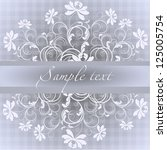 wedding card or invitation with ... | Shutterstock .eps vector #125005754