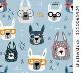 seamless pattern with funny... | Shutterstock .eps vector #1250061424
