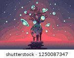hand drawn abstract mystery... | Shutterstock .eps vector #1250087347