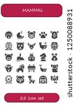 vector icons pack of 25 filled... | Shutterstock .eps vector #1250088931
