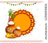 south indian harvesting... | Shutterstock .eps vector #1250095831