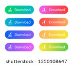 download button. gradient... | Shutterstock .eps vector #1250108647