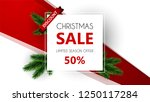 christmas sale  special offer ... | Shutterstock .eps vector #1250117284
