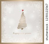 new year card vector... | Shutterstock .eps vector #1250122567