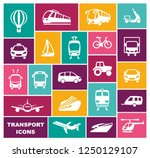 icons of various means of... | Shutterstock .eps vector #1250129107