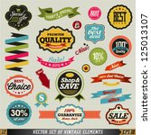 set of vector stickers and... | Shutterstock .eps vector #125013107