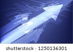 arrow motion on circuit board... | Shutterstock .eps vector #1250136301