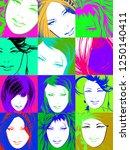 pop art illustration. lovely...   Shutterstock . vector #1250140411
