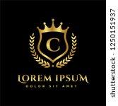 luxury royal letter c crest... | Shutterstock .eps vector #1250151937