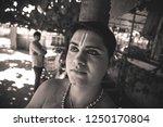 young bharatnatyam artist looks ... | Shutterstock . vector #1250170804