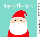 happy new year. santa claus... | Shutterstock .eps vector #1250171311
