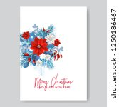christmas party invitation with ... | Shutterstock .eps vector #1250186467