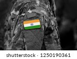 flag of india on military...   Shutterstock . vector #1250190361