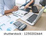 business team meeting working... | Shutterstock . vector #1250202664