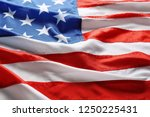 national flag of america as... | Shutterstock . vector #1250225431