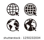 web  website  homepage icon set | Shutterstock .eps vector #1250232034