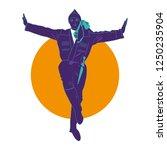 illustration of folk dance of... | Shutterstock .eps vector #1250235904
