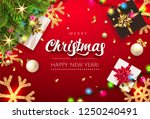 merry christmas and happy new... | Shutterstock .eps vector #1250240491
