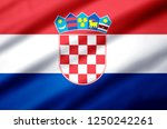 croatia modern and realistic... | Shutterstock . vector #1250242261