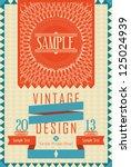 vintage design card   Shutterstock .eps vector #125024939