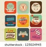 vector set vintage labels 3   Shutterstock .eps vector #125024945