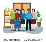 business coworkers executives... | Shutterstock .eps vector #1250251087