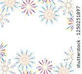 bright fireworks cartoon | Shutterstock .eps vector #1250251897