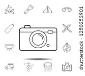 camera drawn icon. simple...