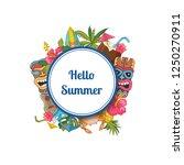 vector cartoon summer travel... | Shutterstock .eps vector #1250270911