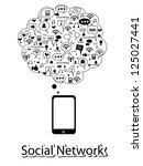 social network | Shutterstock .eps vector #125027441