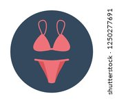 bikini flat icon. you can be...
