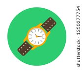wrist watch flat icon. you can...