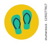 flip flops flat icon. you can...