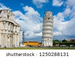 the leaning tower of pisa ... | Shutterstock . vector #1250288131