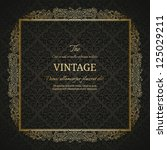 vintage background with golden... | Shutterstock .eps vector #125029211