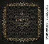vintage background with golden... | Shutterstock .eps vector #125029211